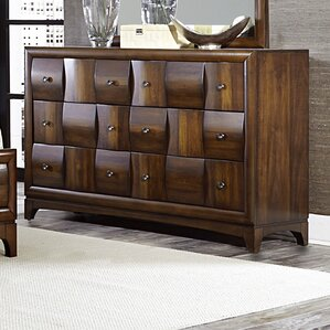 Ainslie Brook 6 Drawer Standard Dresser by World Menagerie