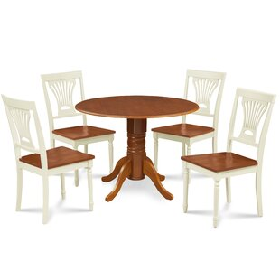 Remy 5 Piece Drop Leaf Solid Wood Dining Set