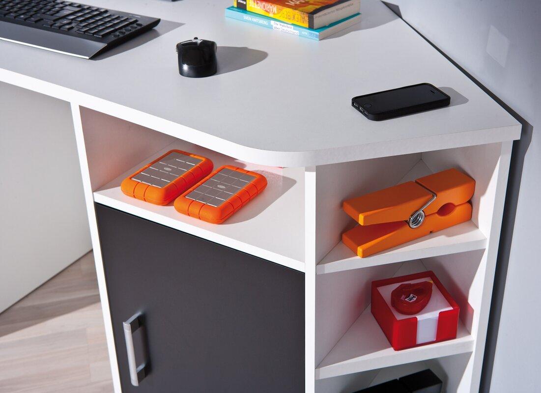 house additions carmelina corner desk reviews. Black Bedroom Furniture Sets. Home Design Ideas