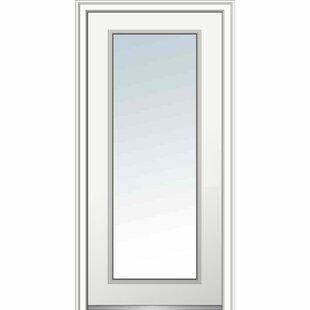 Full Lite Primed Prehung Front Entry Door