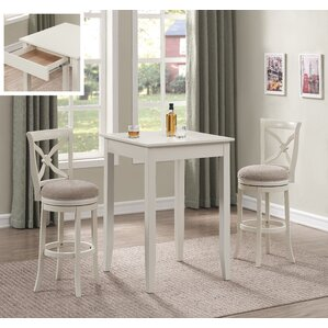 Bulwell 3PC Pub Height Table Set by Red B..