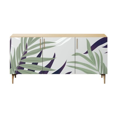 Bay Isle Home Robscott Sideboard Color (Base/Top): Natural/Brass
