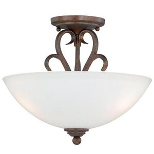 Elayne 2-Light Semi Flush Mount