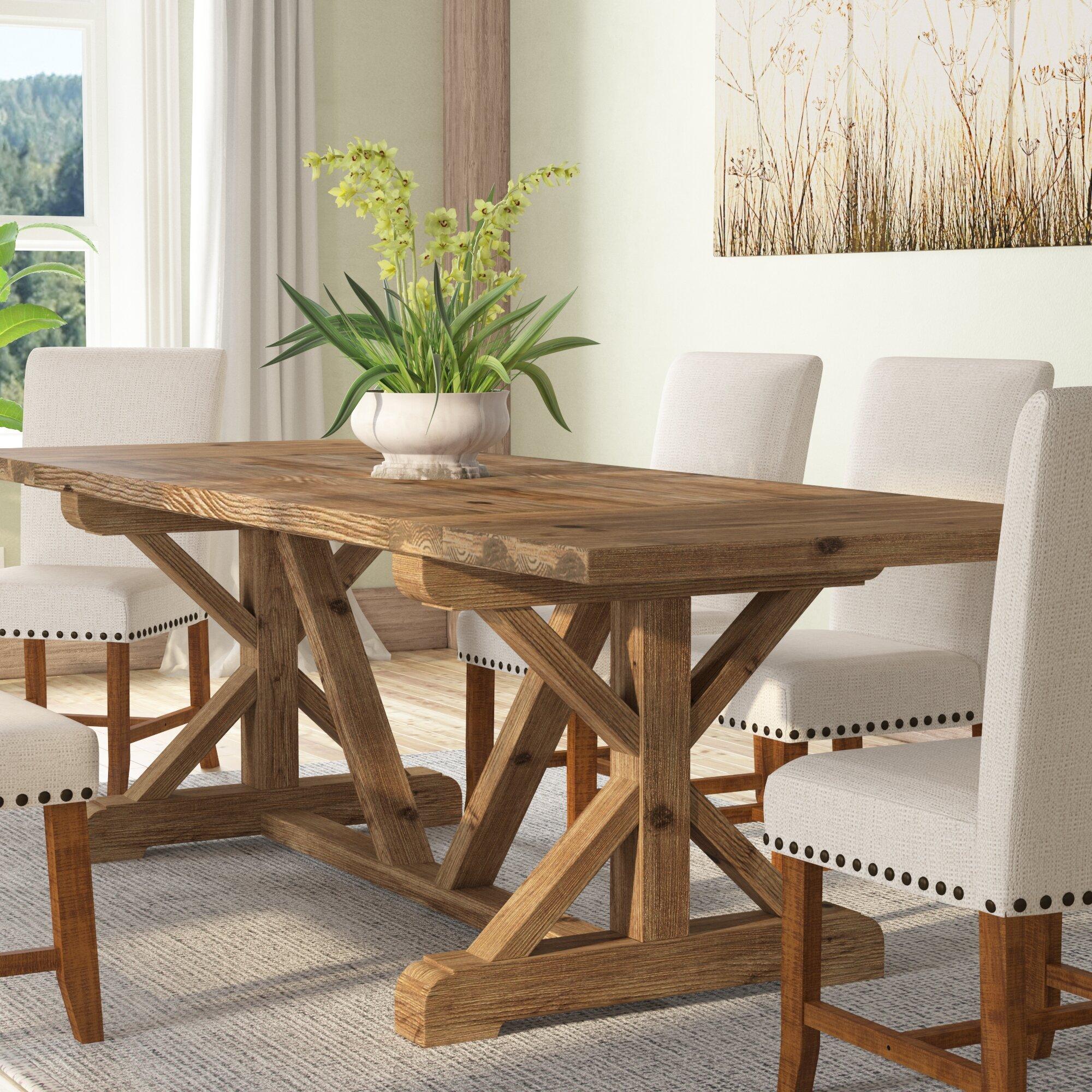 Wayfair & Camden Den Solid Wood Extendable Dining Table