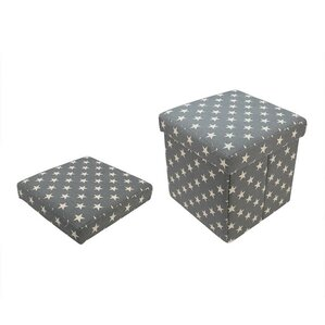 Star Collapsible Square Storage Ottoman by N..