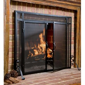 wooden fireplace screens. Fire Screens Fireplace  Doors You ll Love Wayfair
