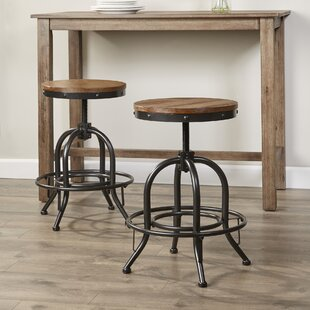 Fauntleroy Adjustable Height Bar Stool (Set of 2)