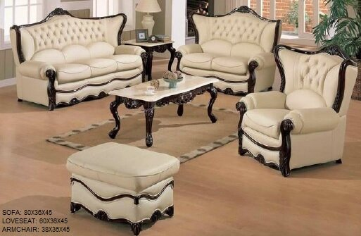 Gamache 3 Piece Leather Living Room Set