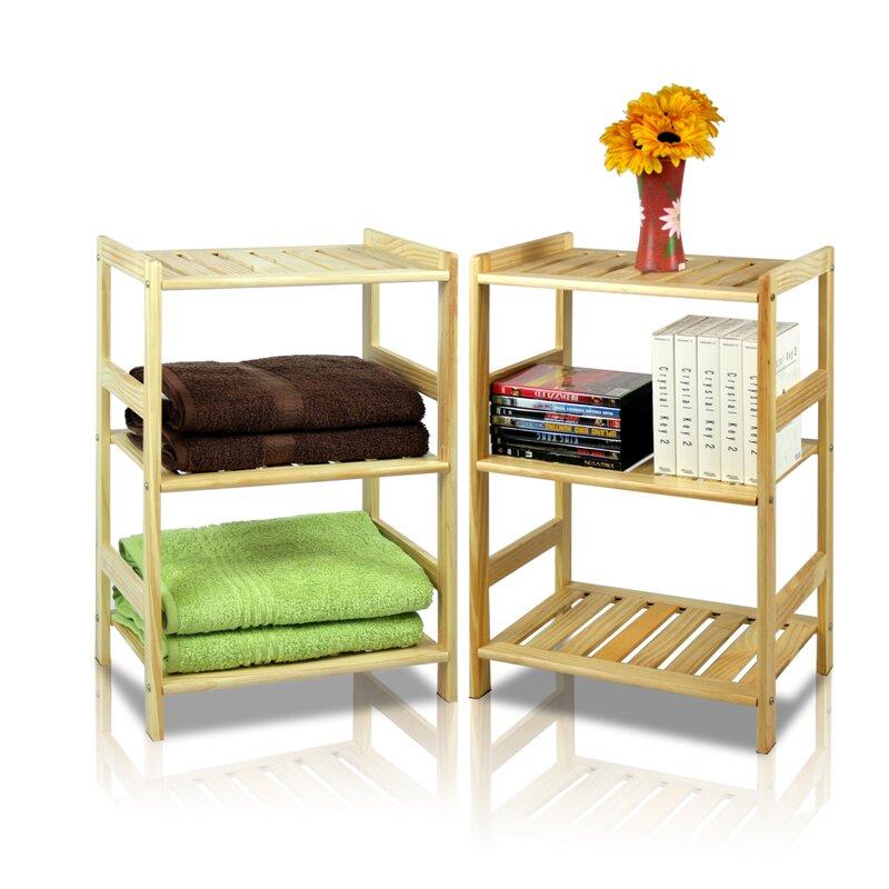 Jorgensen Pine 3 Tier Storage Shelf