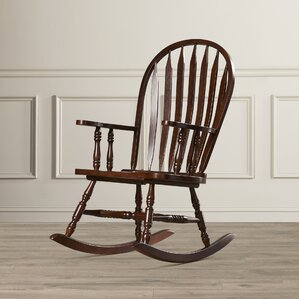Dollison Rocking Chair with Arms by Rosalind Wheeler