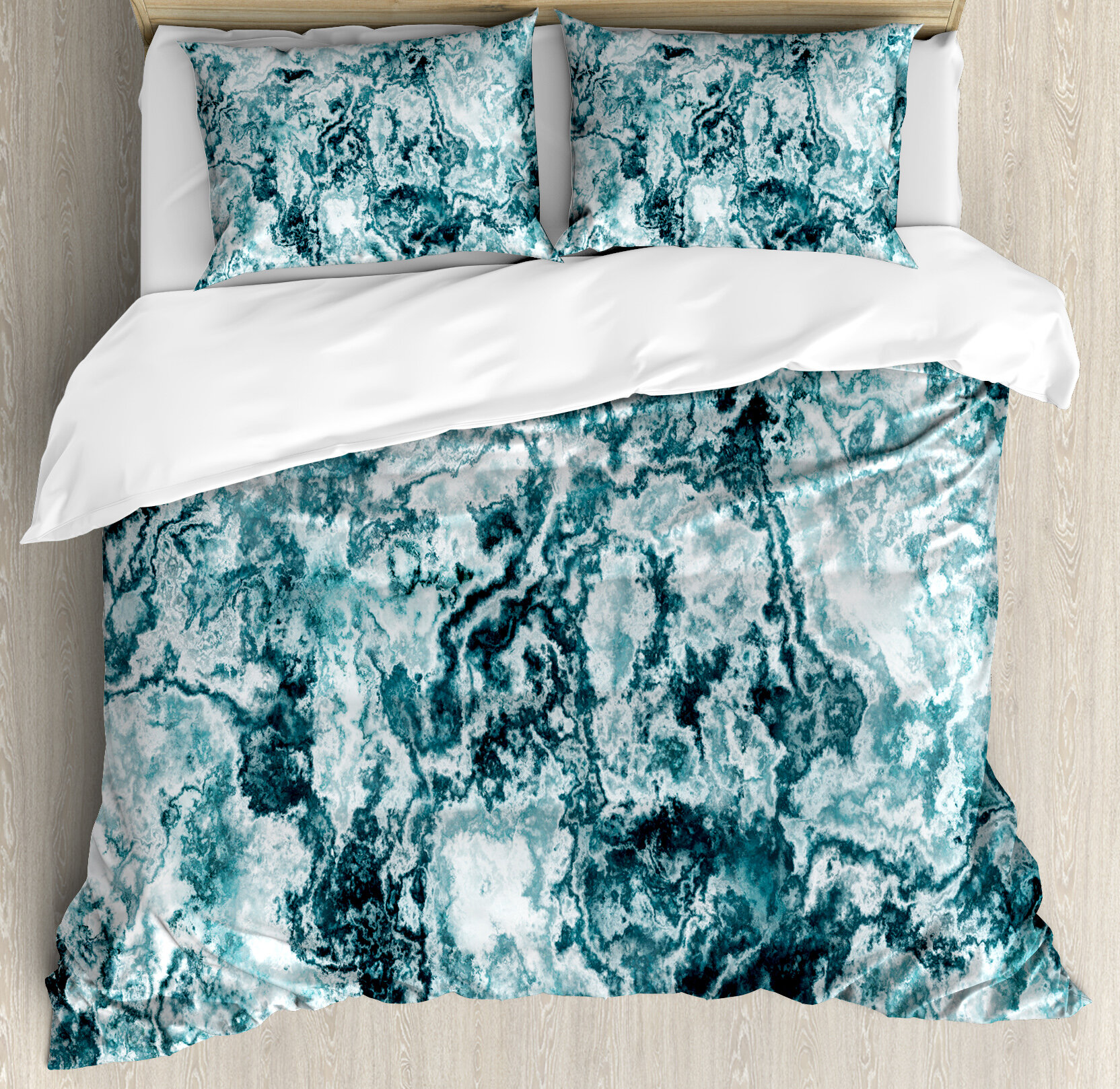 Ambesonne Marble Abstract Rock Texture Modern Stylized Retro