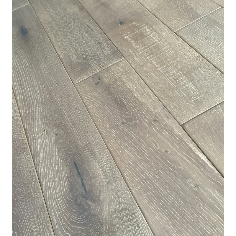 Jasmine 6 Solid Oak Hardwood Flooring In Distressed Driftwood