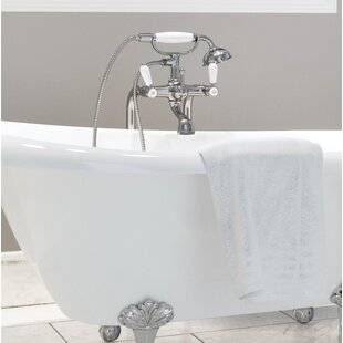 Classic Double Handle Floor Mounted Telephone Faucet With Hand Shower