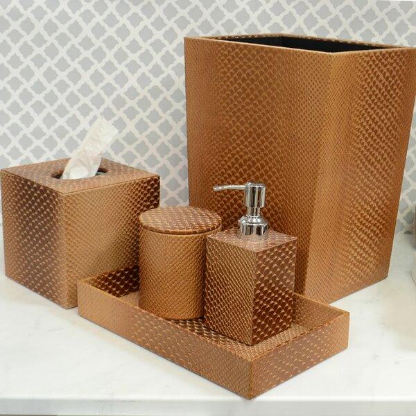 Trent Austin Design Bevis Genuine Leather 5 Piece Bathroom