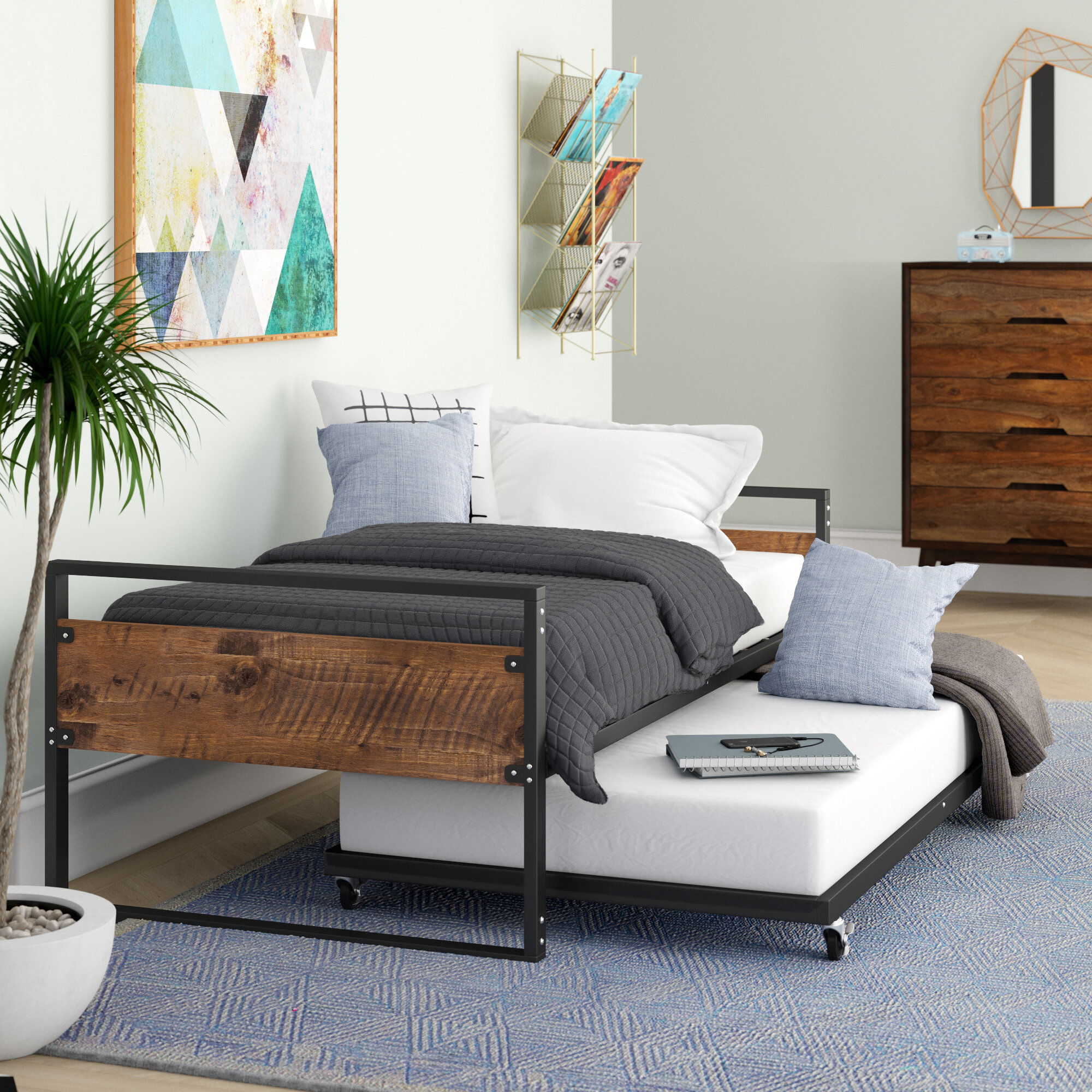 Trundle Bed.Barrett Twin Daybed With Trundle