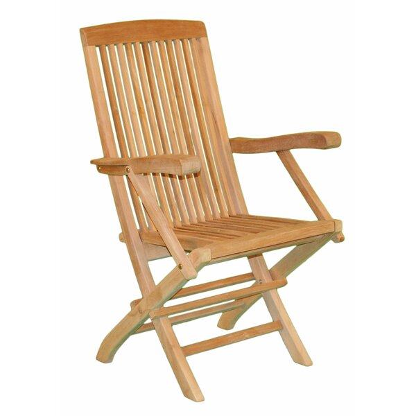 Wonderful Jewels Of Java Fan Folding Teak Patio Dining Chair | Wayfair