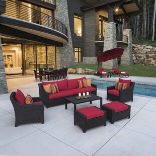 Delicieux Northridge 20 Piece Rattan Sunbrella Sofa Set With Cushions