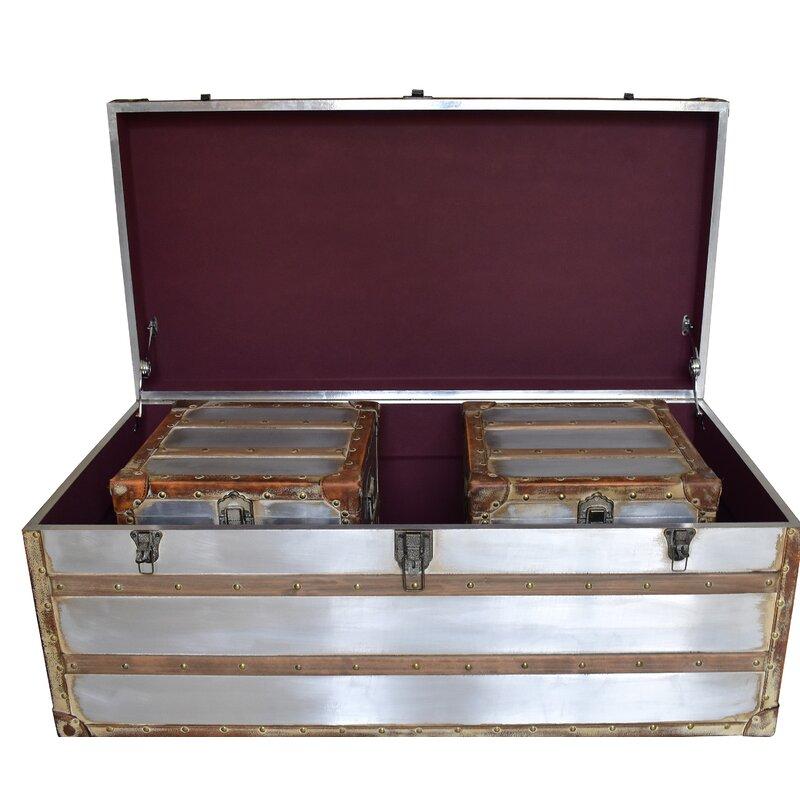 Ordinaire Nowicki 3 Piece Trunk Coffee Table Set