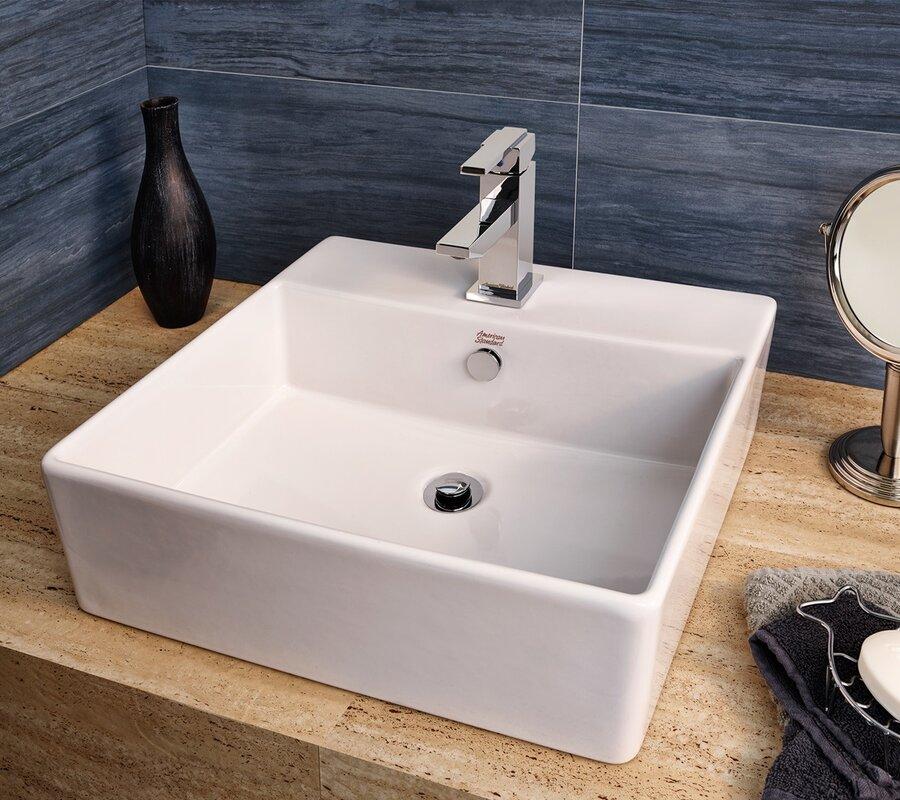 Cadet Rectangular Vessel Bathroom Sink With Overflow