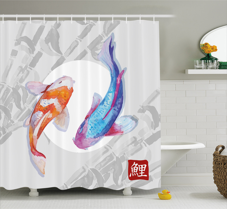 East Urban Home Couple Koi Fish Decor Shower Curtain Reviews