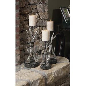 3 Piece Metal Candlestick Set