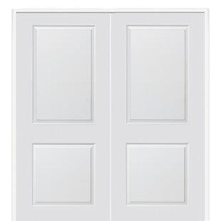 Carrara Smooth Surface Solid Panelled Prehung Interior Double Door  sc 1 st  Wayfair & Interior Prehung Double Doors   Wayfair