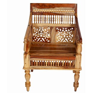Reaves Hand Carved Solid Sustainable Sheesham Armchair