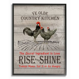 Old Country Kitchen Rise u0026 Shine Textual Art  sc 1 st  Wayfair : country kitchen wall art - hauntedcathouse.org