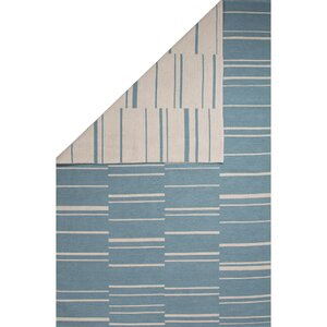Taft Cotton Flat Weave Blue/White Area Rug