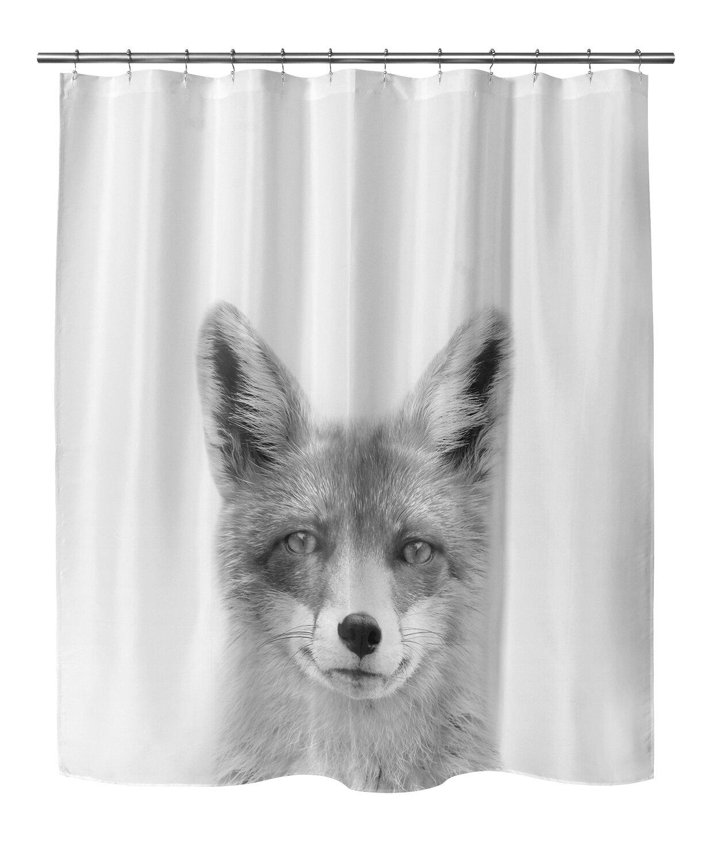 East Urban Home Fox Shower Curtain