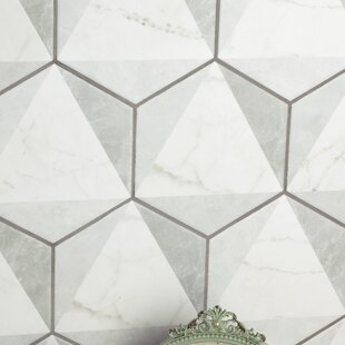 Karra 7 X 8 Porcelain Field Tile In White Gray