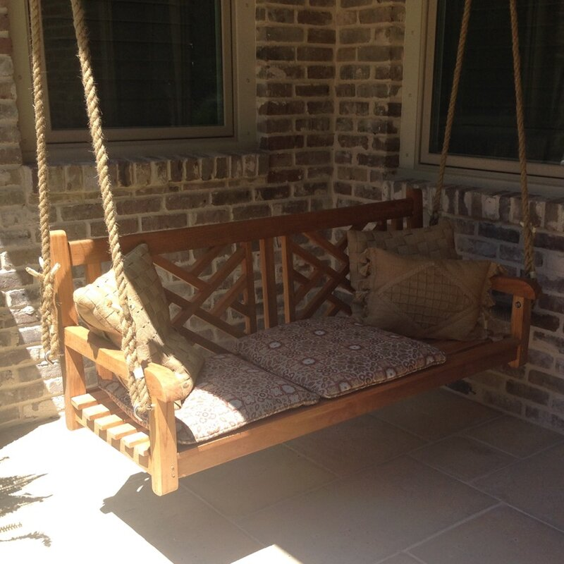 Chippendale Teak Porch Swing
