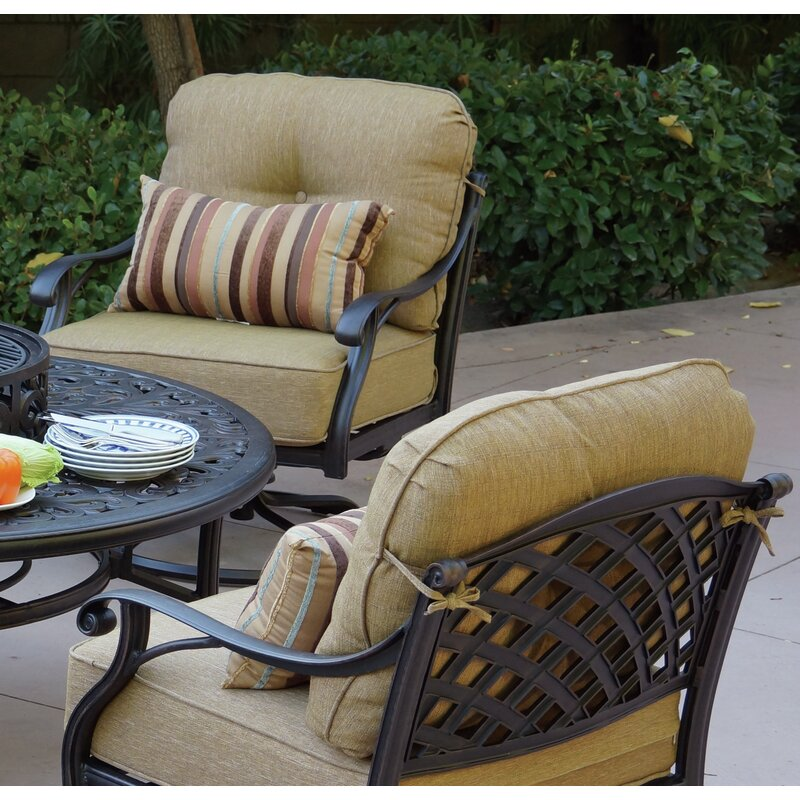 Lincolnville Rocker Swivel Recliner Patio Chair With Cushions