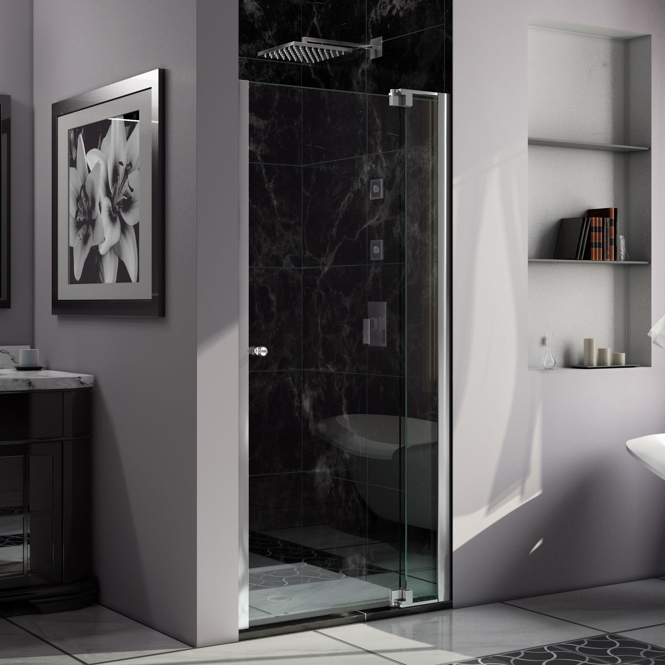 Dreamline Allure 34 X 73 Pivot Frameless Shower Door Wayfair