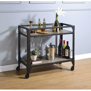 Kelly Metal Framed Bar Cart