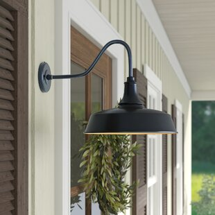 Outdoor gooseneck barn light wayfair save aloadofball Image collections