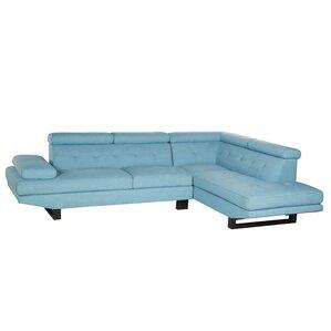 Grainger Sectional  sc 1 st  AllModern : blue leather sectional couch - Sectionals, Sofas & Couches