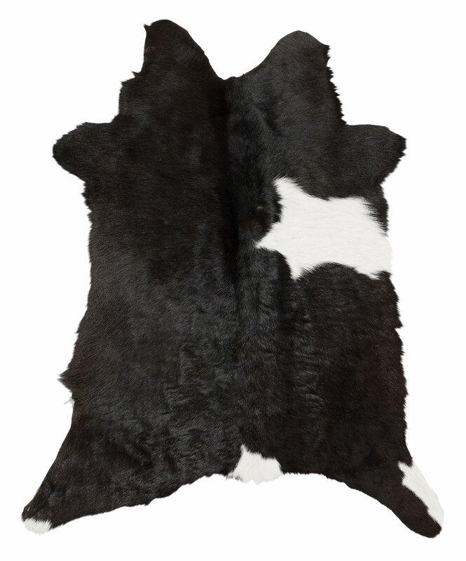 skinnwille kuhfell teppich hana in schwarz braun. Black Bedroom Furniture Sets. Home Design Ideas
