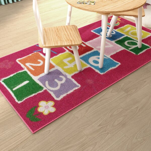 Zoomie Kids Alondra Hopscotch Pink Rug & Reviews