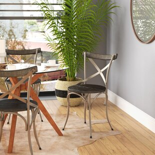 Juarez Mango Wood/Wrought Iron Dining Chair (Set of 2) & Wrought Iron Table And Chairs | Wayfair
