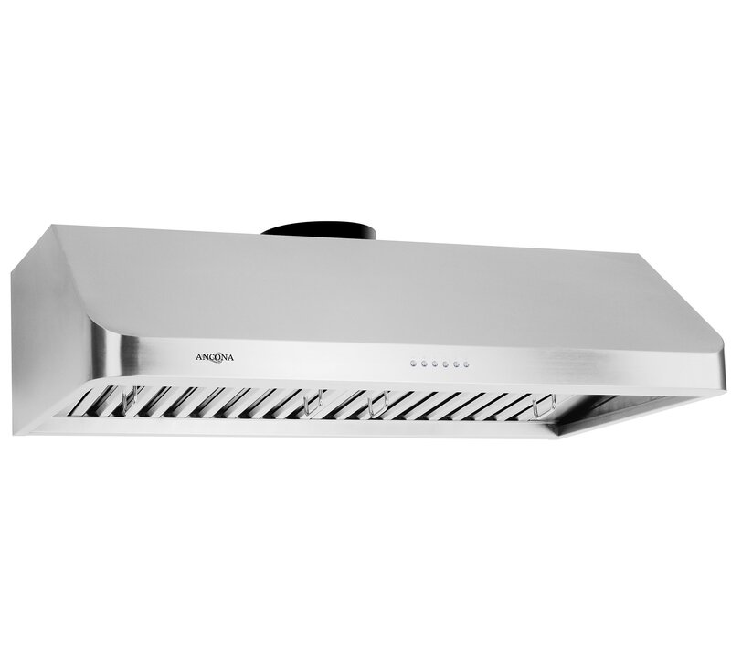 "Ancona 36"" Advanta UC Chef II 900 CFM Ducted Under Cabinet Range Hood"