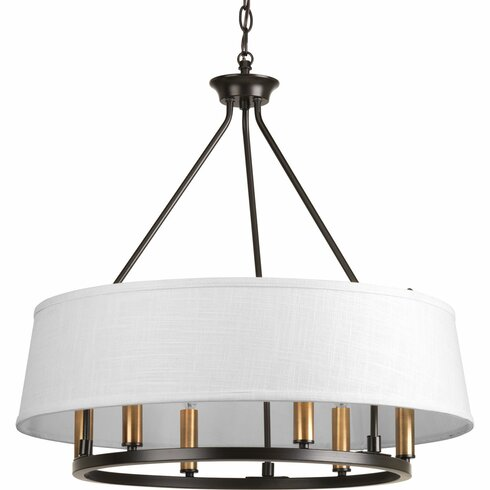 Hughett 6 light drum chandelier