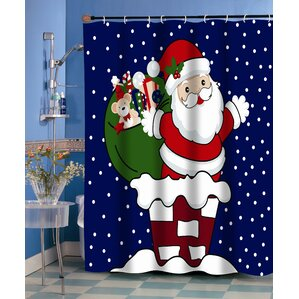 Up On The Rooftop Holiday Shower Curtain