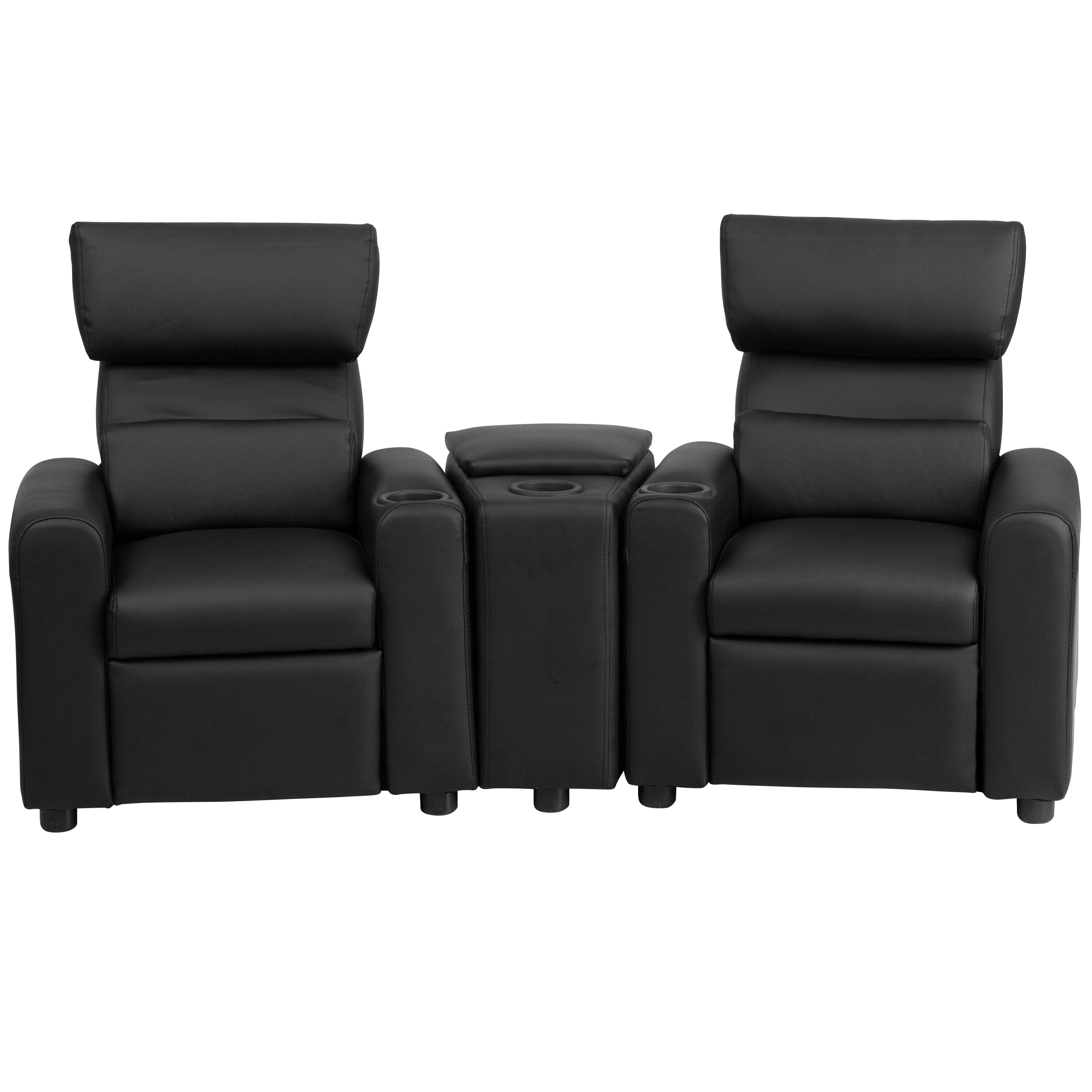 Flash Furniture Kids Leather Recliner With Storage Compartment And Cup  Holder U0026 Reviews  Wayfair Recliner Cup Holder Storage L2