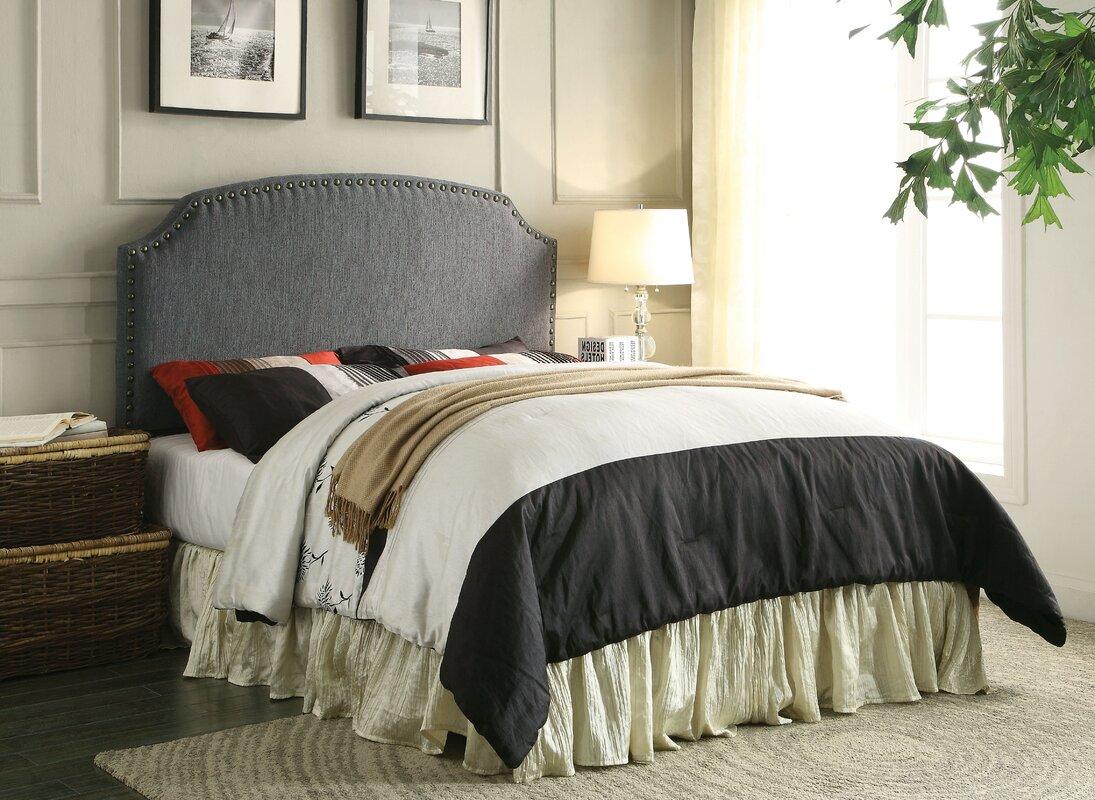 Wayfair Upholstered Panel Bed: Three Posts Coleshill Upholstered Panel Headboard