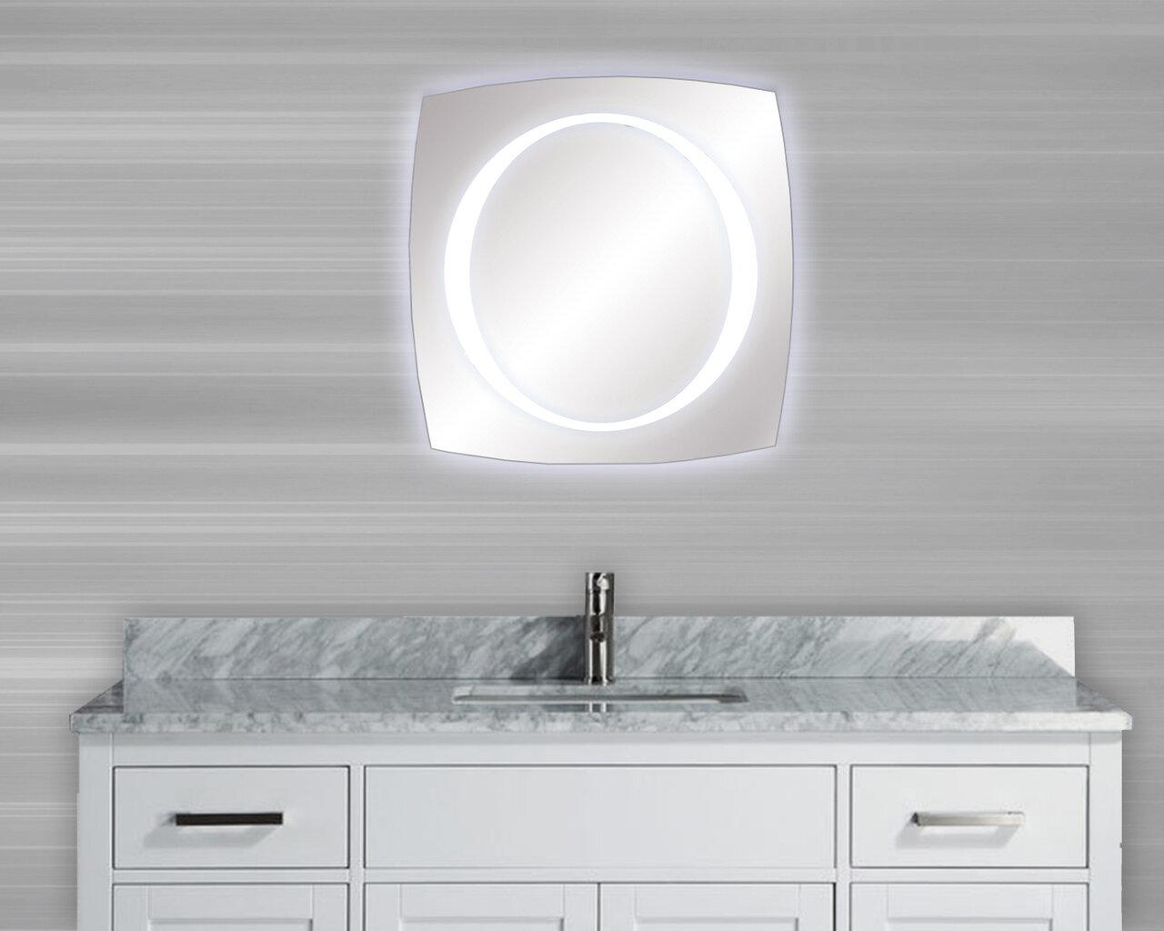 MTDVanities Vadara Halo LED Illuminated Bathroom/Vanity Mirror | Wayfair