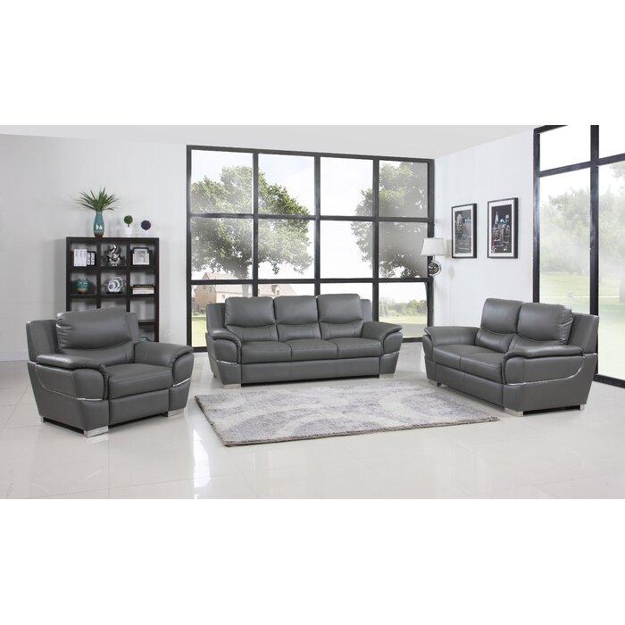Trower 3 Piece Living Room Set