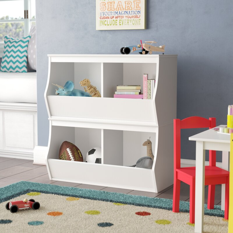 Leonor Stacked 4 Bin Storage Cubby