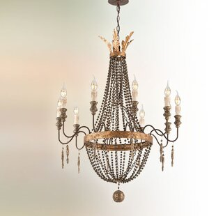 Wire chandelier wayfair beamer 10 light candle style chandelier aloadofball