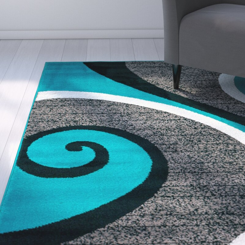 Rick Turquoise Area Rug